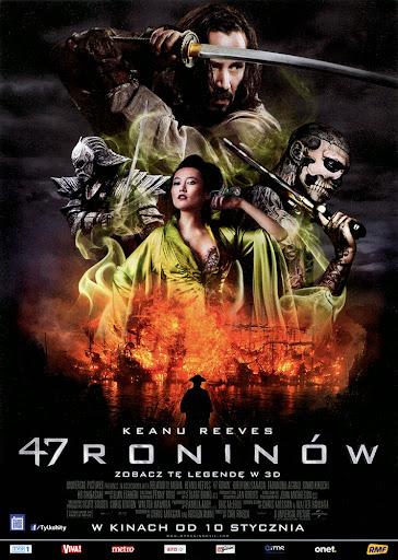 Przód ulotki filmu '47 Roninów'
