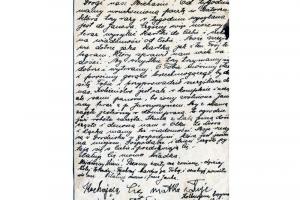 Письмо от родственников узнику в Старобельск, апрель 1940
