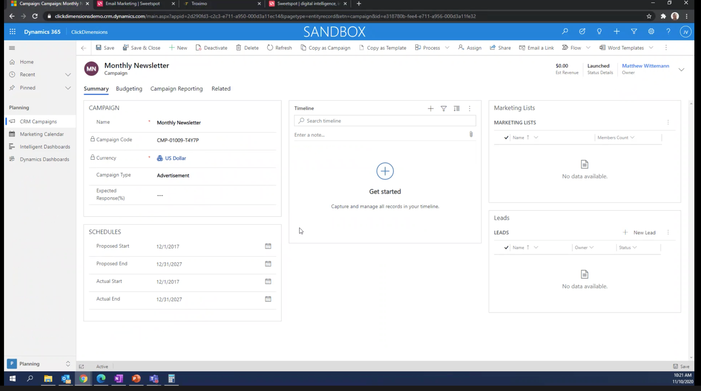 email automation for Microsoft Dynamics 365