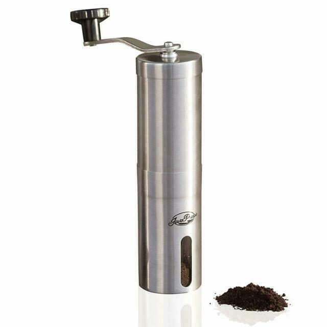 JavaPresse Manual Coffee Grinder Conical Burr Mill Brushed Stainless Steel  Tea 6 for sale online | eBay