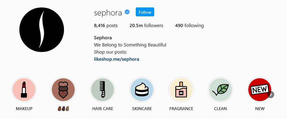 instagram brands sephora