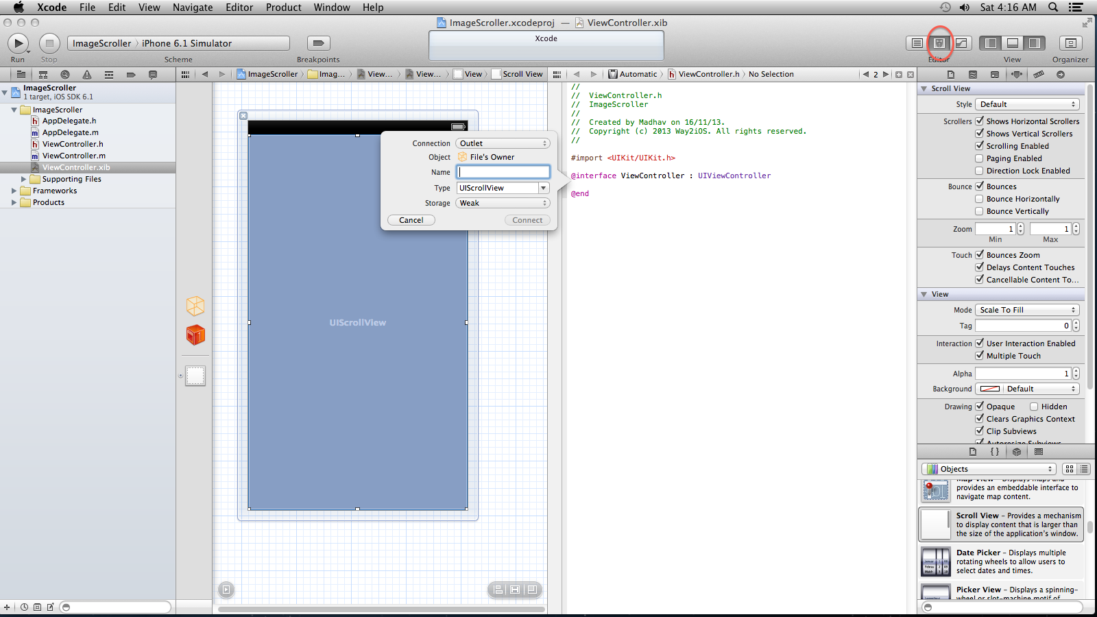 Tutorial : How to make a Basic ImageScroller in iOS   WaY 2 iOS