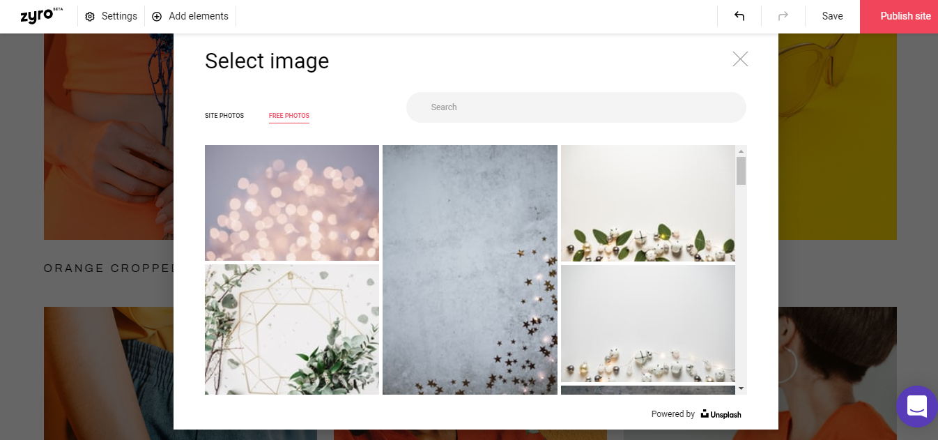 Adding images from Unsplash stock photos