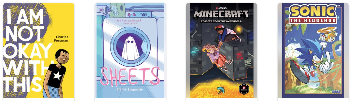 covers of 4 different books