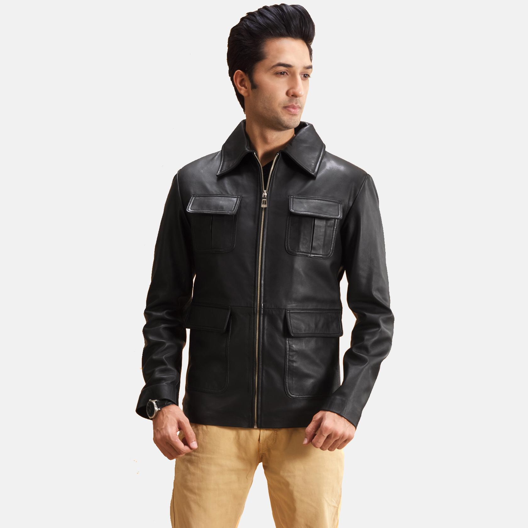 Raven Black Affordable Leather Jacket