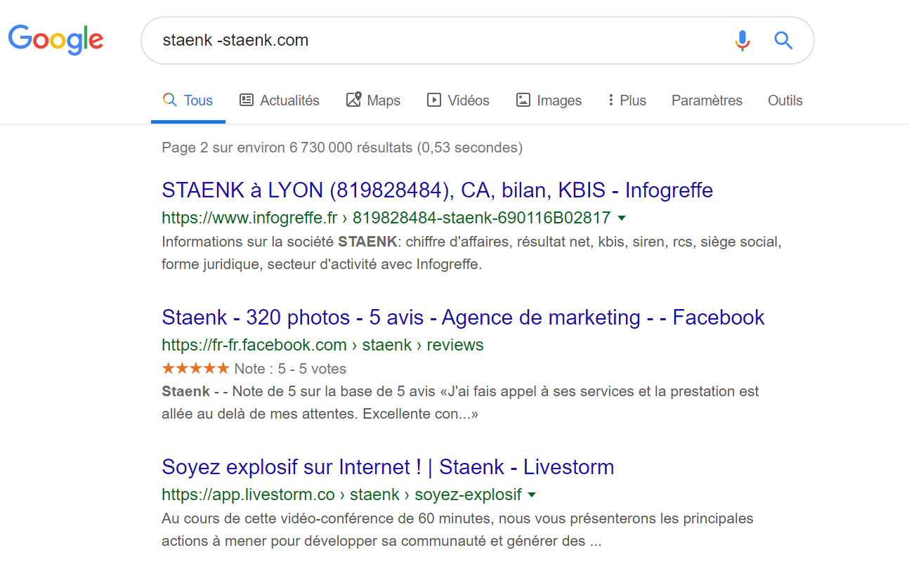 backlinks search results