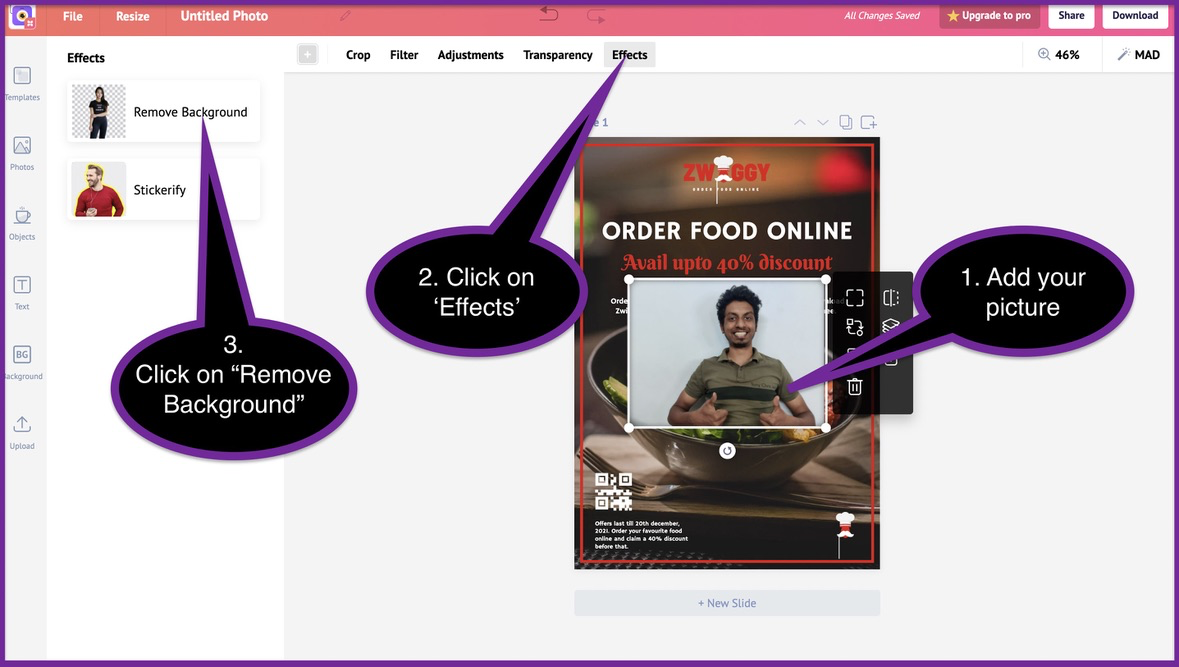 How to create a business flyer - step 7 -screenshot 2