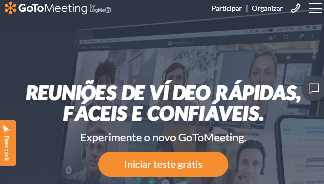 programa de reuniões online em vídeo GoToMeeting