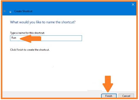 Method to Open Run Dialog Box in Windows 10