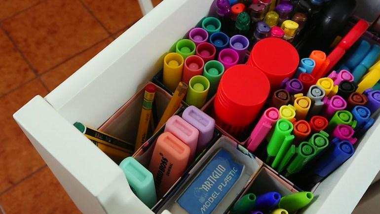 Turn old pasta boxes into drawer organisers