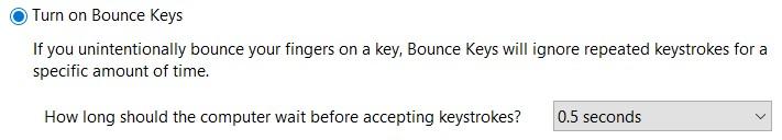 Turn on Bounce Keys