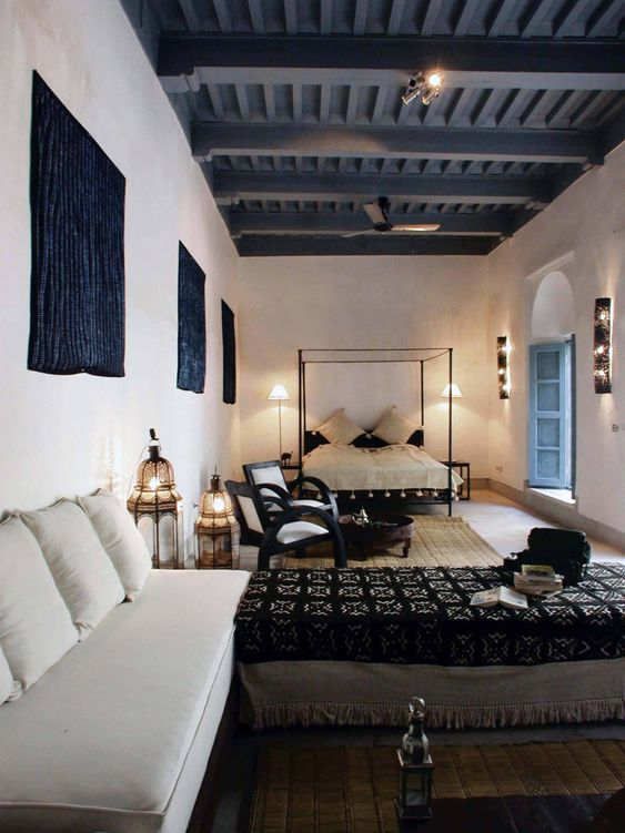 Moroccan Bedroom Combine with Sitting Area