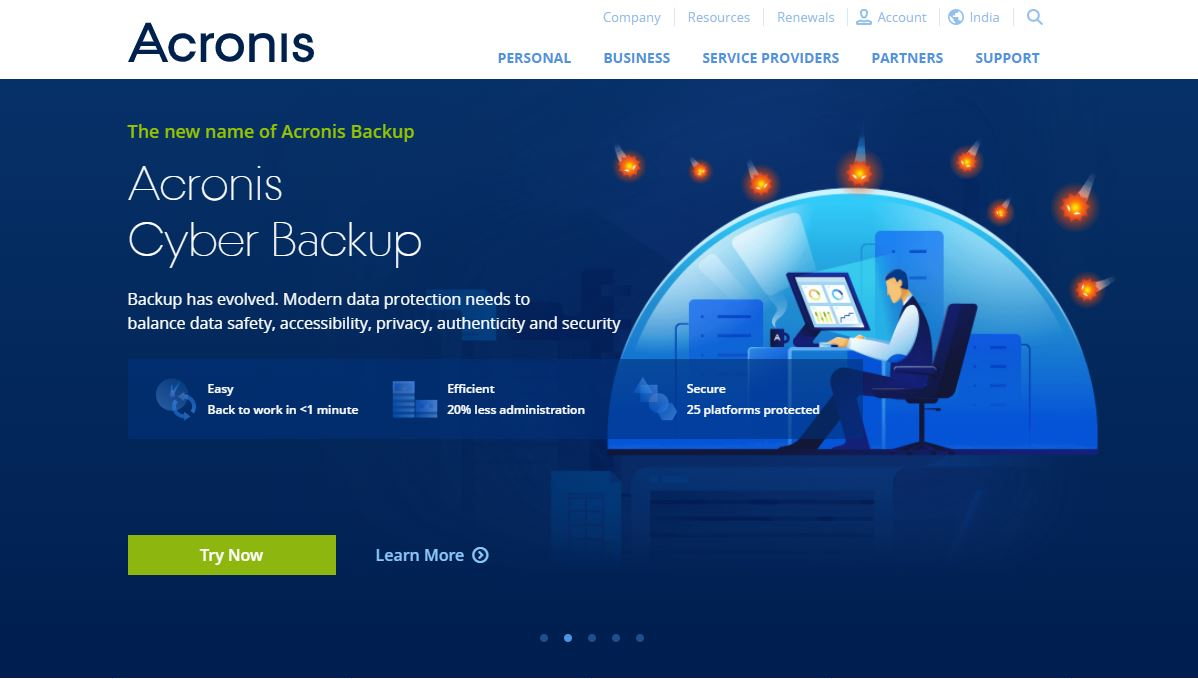 Acronis Cloud Backup Solutions