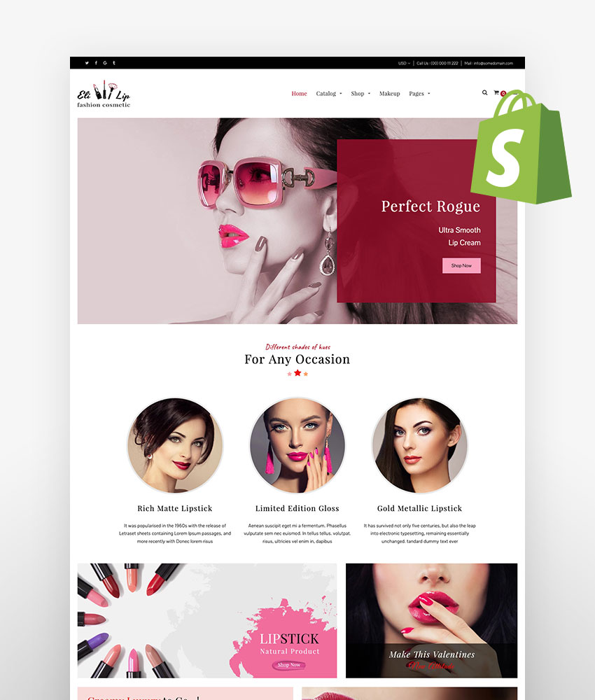 Shopify skin care themes Eli