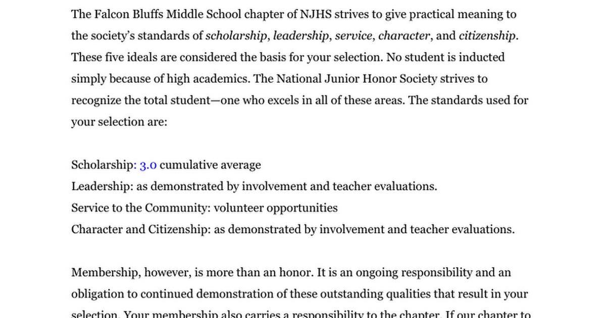 njhs essay for application
