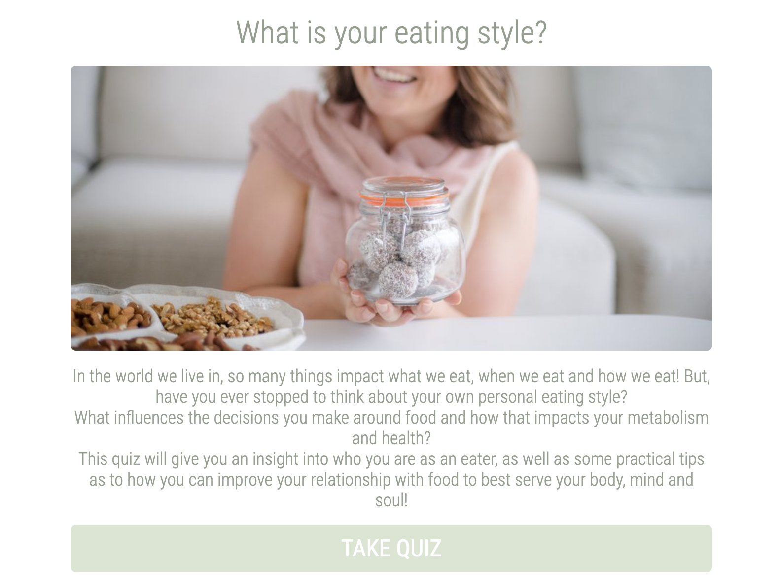 what's your eating style quiz cover