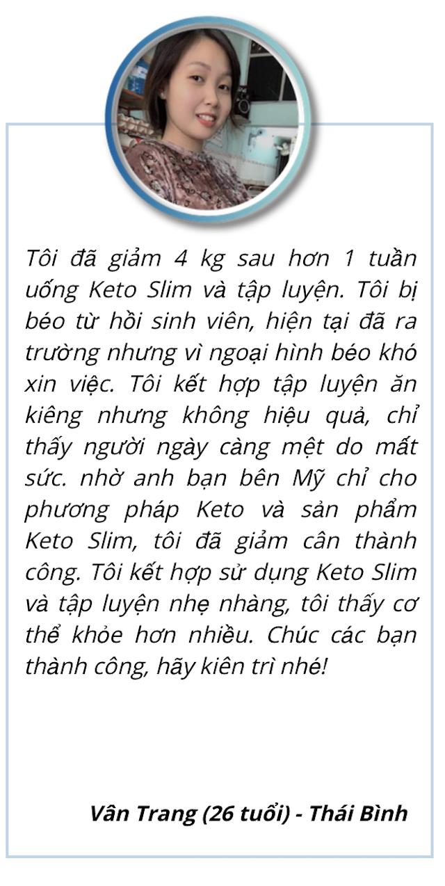Khách hàng Vân Trang đánh giá cao Keto Slim
