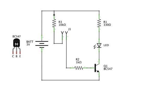 Simple Water Sensor Circuit Diagram