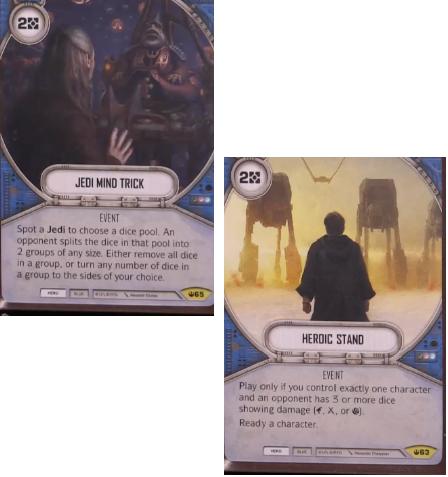 FFG 2 X  Suppressive Fire red hero uncommon card Star Wars Destiny
