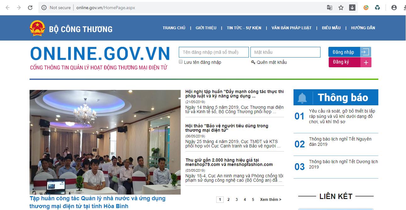 Cách khai báo website với nhà nước