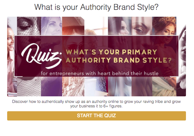 What's your primary authority brand style? quiz cover