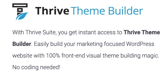 TOOLS FOR AFFILIATE MARKETING Thrive theme builder