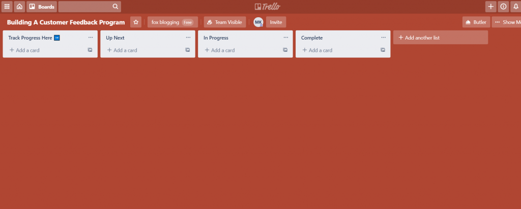blogging tool trello