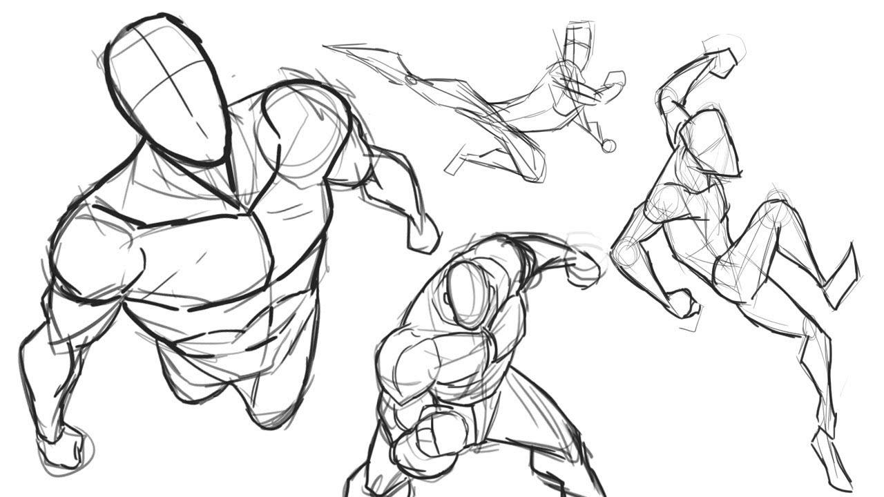 Dibujar el cuerpo humano en acción