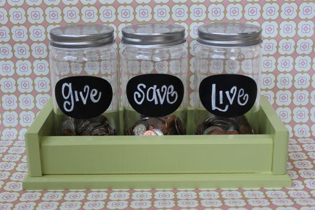 Jars for saving coins and spare change