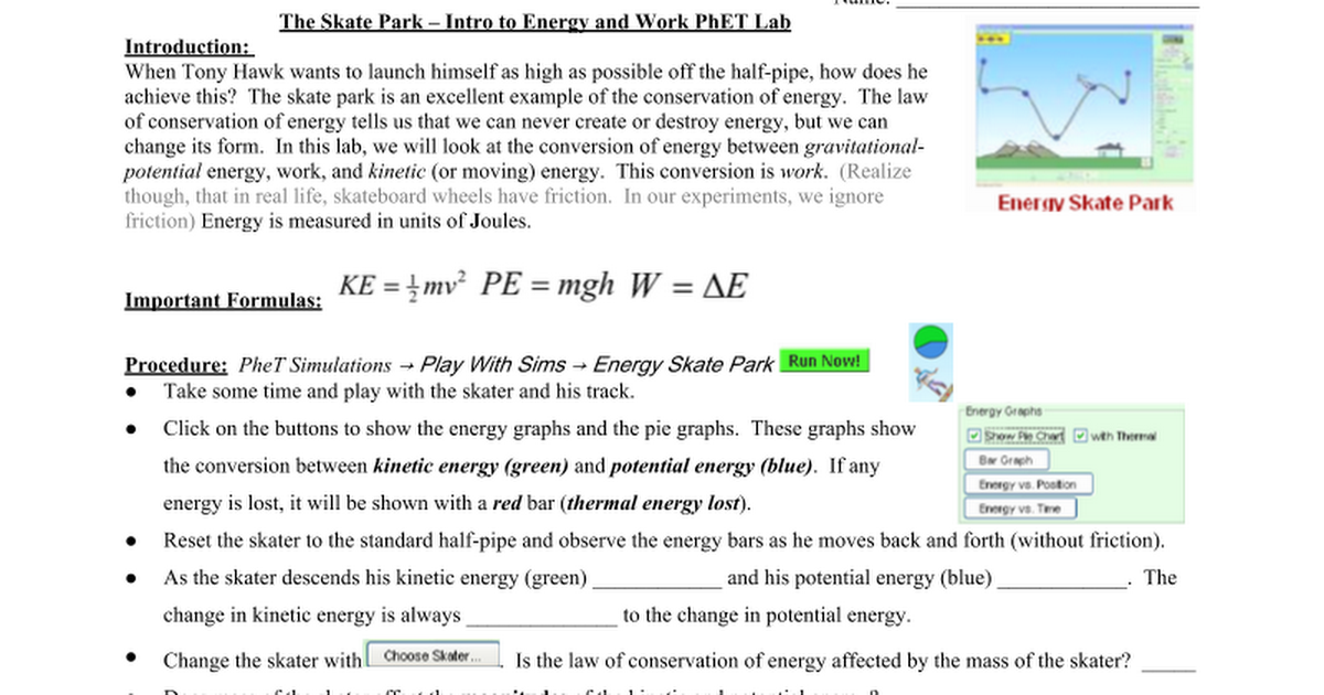 Energy Skate Park PhET Lab.doc - Google Docs