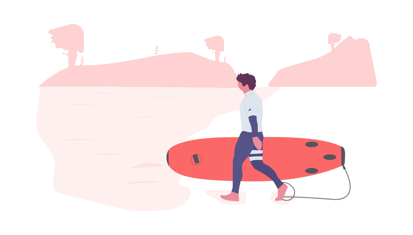 Workations give you the chance to spend more time on hobbies you have limited time for, such as surfing.