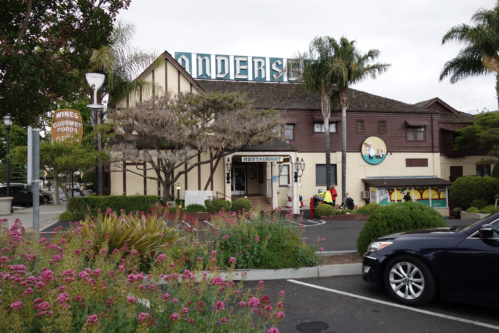 cycling Figueroa Mountain Road - photo of  Anderson's Pea Soup - Solvang restaurant and parking lot