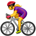 Woman Biking on Apple iOS 14.2