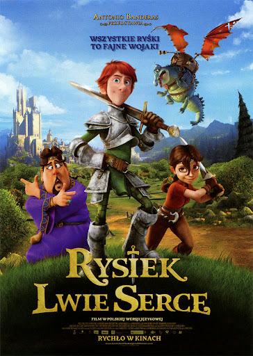 Przód ulotki filmu 'Rysiek Lwie Serce'