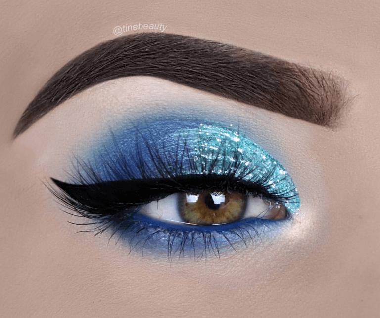 Icy Blue Eye Makeup