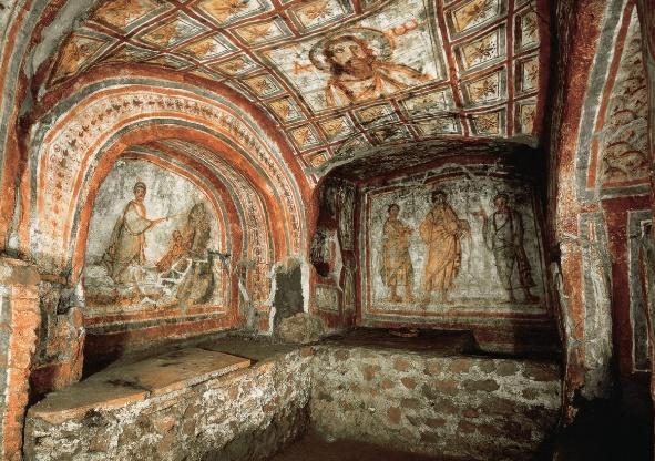 Resultado de imagem para arte paleocristã catacumbas santa priscila