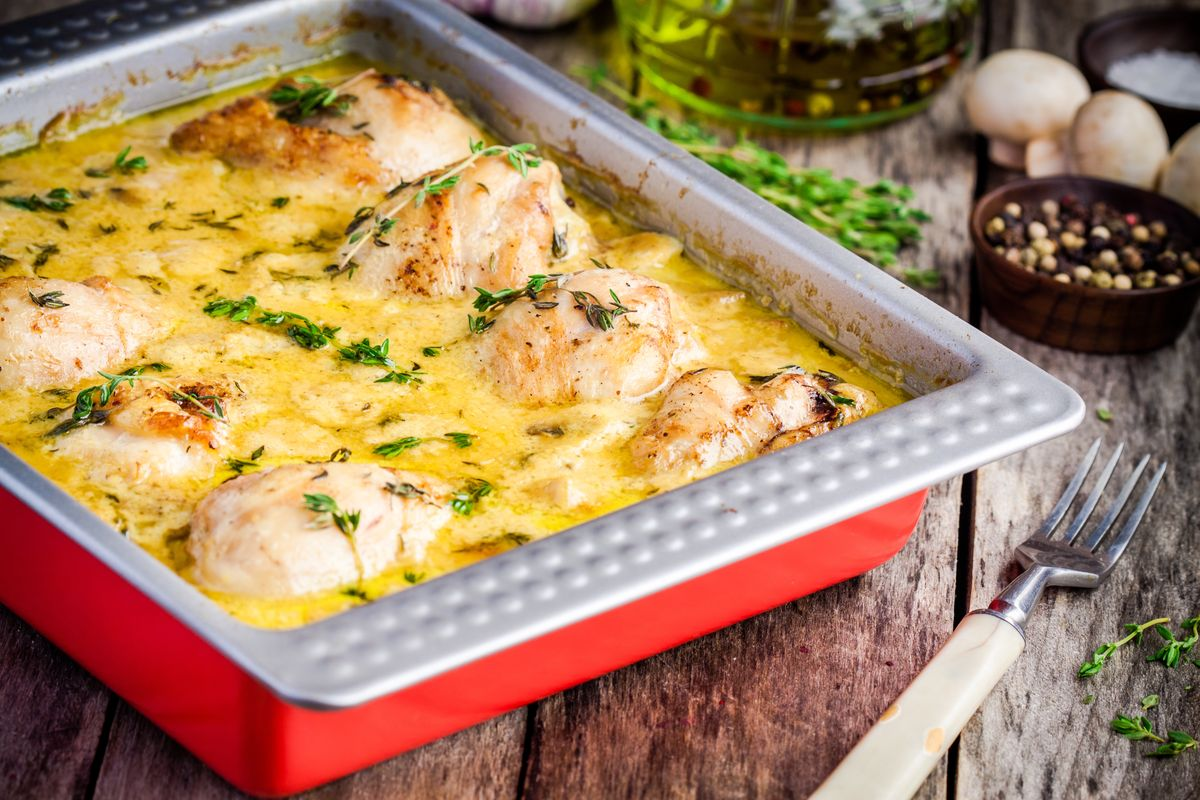 chicken legs in mustard sour cream sauce