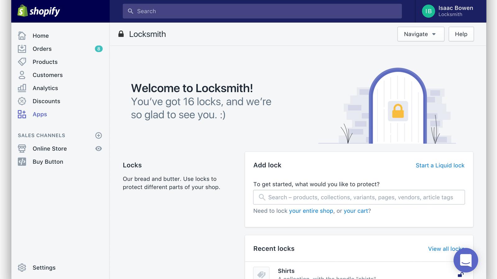 Locksmith homepage