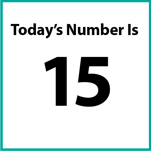 Today's number is 15.