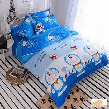 Bedsheets are designed with drawings