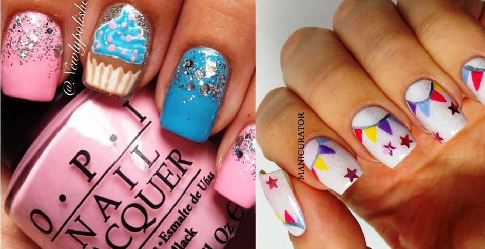 holiday party nail art design ideas