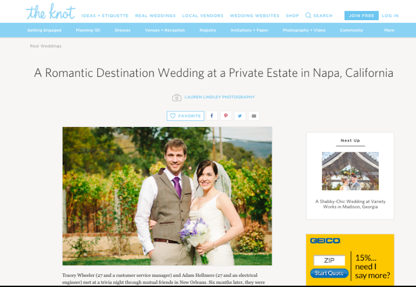 Napa Budget Wedding