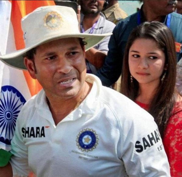 She's definitely Sachin's biggest fan