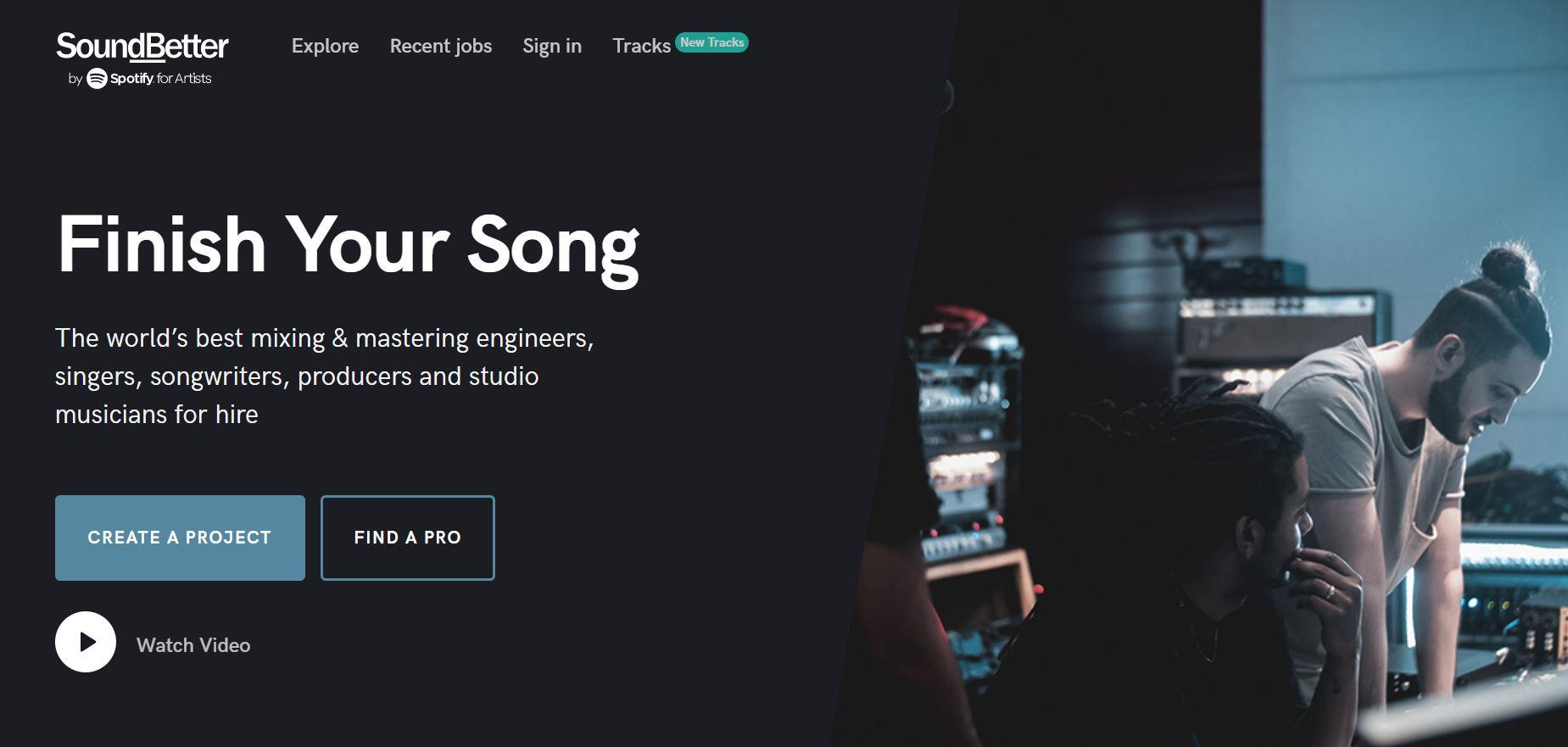 SoundBetter website screenshot