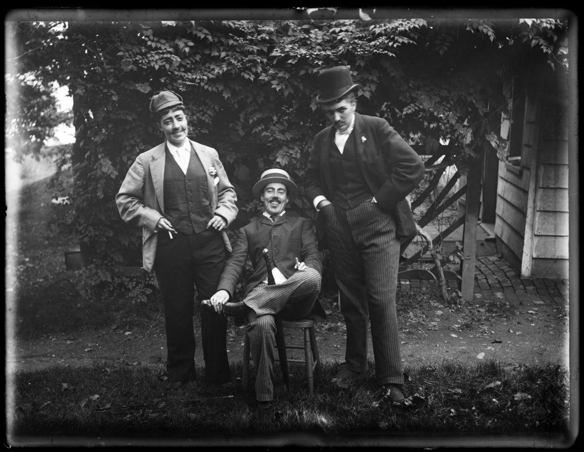 Alice Austen, Julia Martin, Julia Bredt and self dressed up, sitting down, 1891. Alice Austen Photograph Collection. Courtesy of the Staten Island Historical Society..jpg