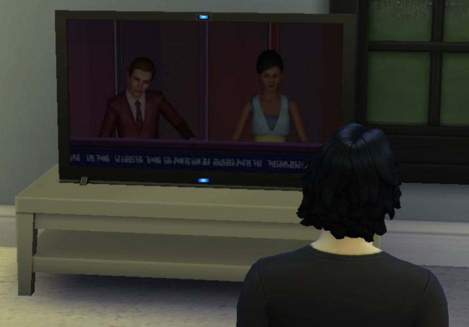 Watching the News - Titus Learns of Ronan's Marriage.png