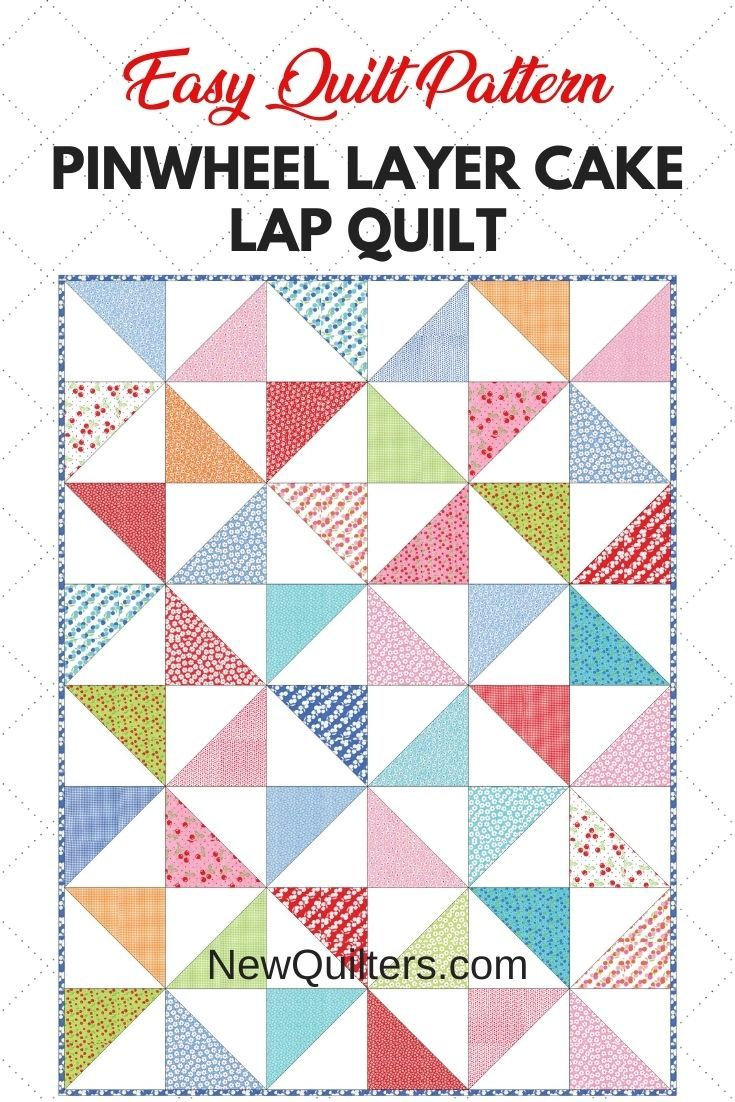 Pinwheel Layer Cake Lap Quilt