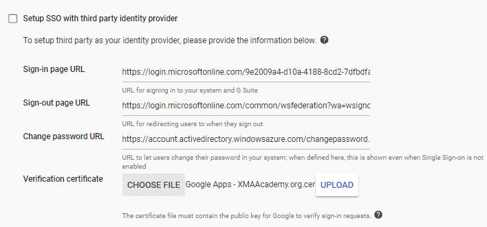 the serverless school: SSO from Chromebooks to Azure AD