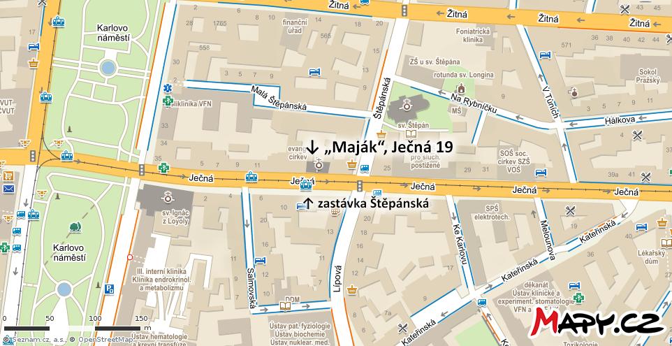 Naše adresa je Praha 2, Ječná 19.