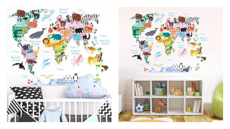 Izglītojošas sienas uzlīmes pasaule